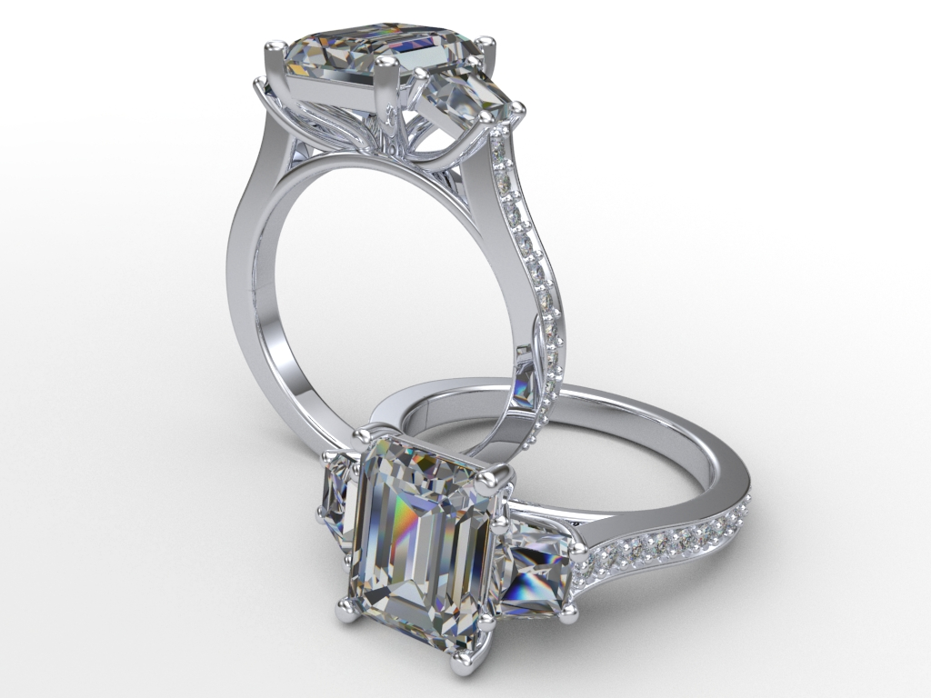 cut design on scroll ring view round diamond product laron flat chicago engagement sides with halo